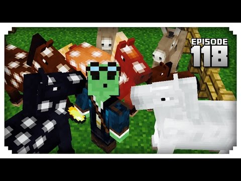 Let's Play Minecraft PE - Ep.118 : Breeding the Ultimate Horse!