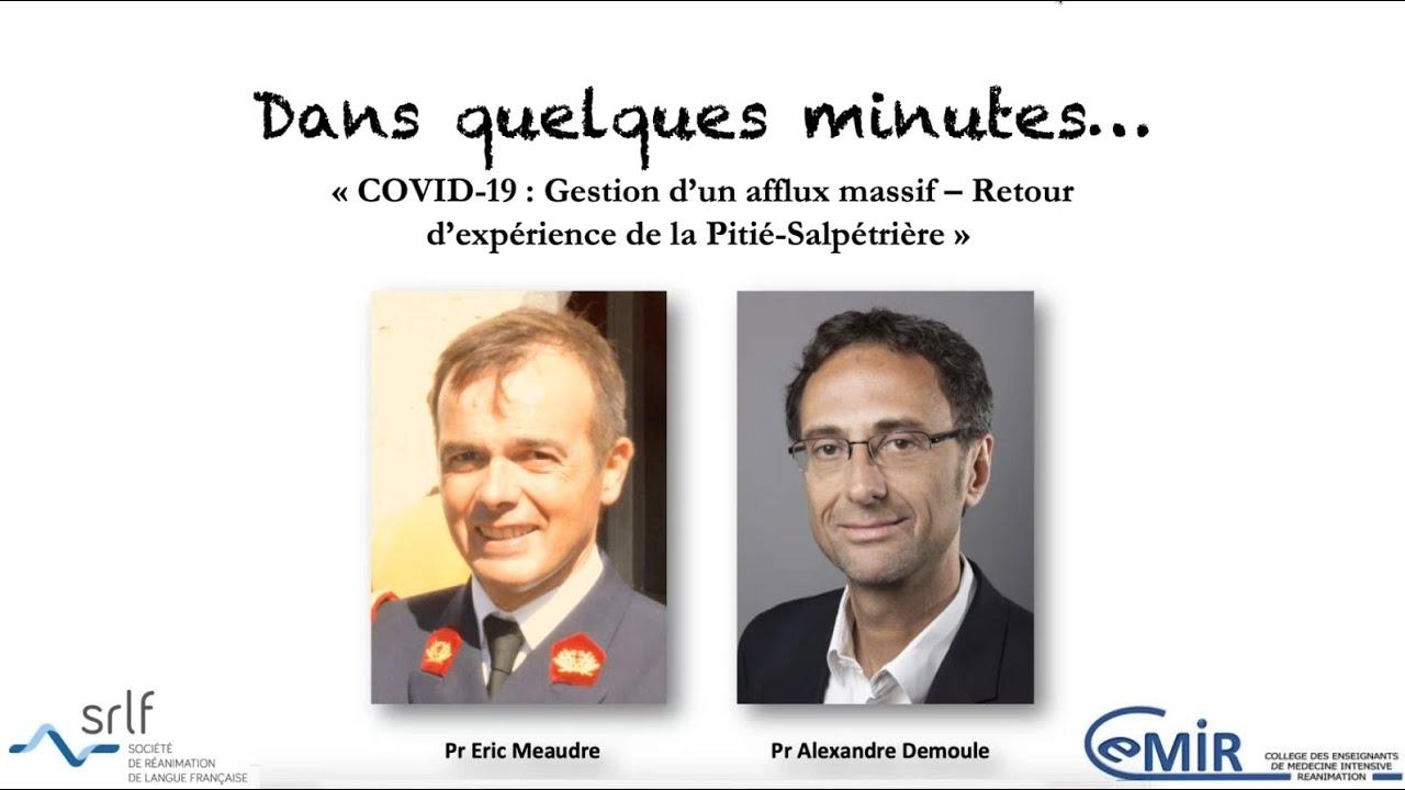 "SunRise Webinar CeMIR / SRLF : ""COVID-19  Eric Meaudre / Alexandre Demoule"""