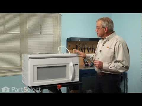 Microwave Repair- Replacing the Internal Light Bulb -- 40W (Whirlpool Part # 8206443)