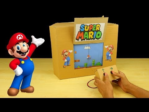 How to Make Amazing SUPER MARIO GamePlay from Cardboard - Amazing Game   from Cardboard