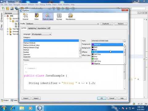 How to Change Font and Color in Java Netbeans
