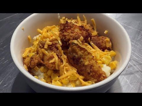 Fried Buttermilk Chicken Bowls