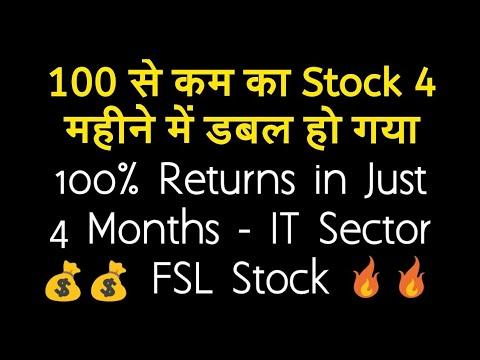 100 से कम का Stock 4 महीने में डबल हो गया - 100% Returns in Just 4 Months | FSL IT Sector Stock