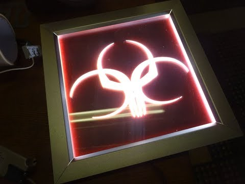 Edge Lit LED Sign: Custom Wall Lamp