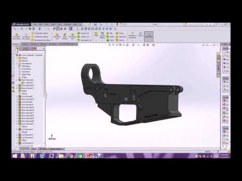 SolidWorks AR-15 Engr 52 Final Project