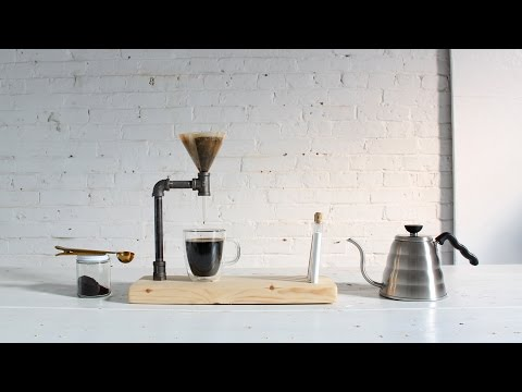 DIY Pour Over Coffee Maker Made Out of Iron Pipes