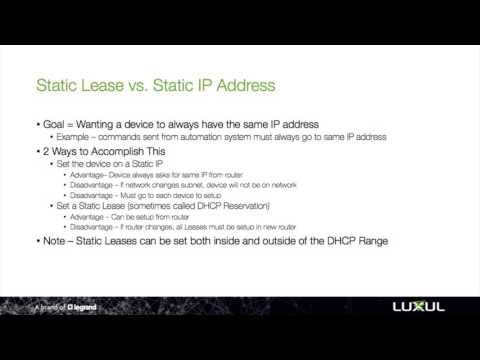 NetSmarts How-To: Static Lease vs Static IP