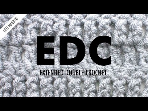The Extended Double Crochet :: Crochet Abbreviation :: Left Handed