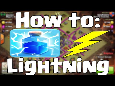 Clash of Clans Lightning Spell Attack Strategy