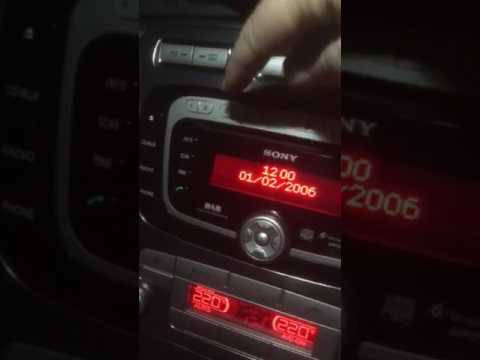 Ford Sony DAB radio code