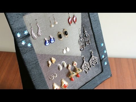 DIY Jewelry organizer - Earring holder
