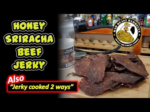 Honey Sriracha Beef Jerky In the Dehydrator and Oven - How To