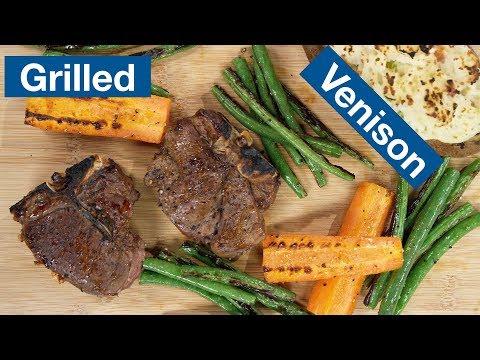Venison T-Bone Steaks Recipe On The Otto Wilde Grill || Le Gourmet TV Recipes