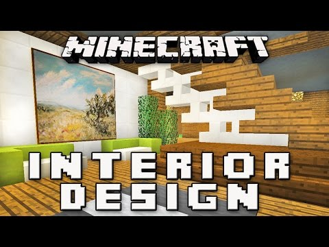 Minecraft Tutorial:  How To Make A Modern Interior House Design   (Part 8)