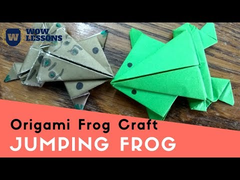 Paper Art - Jumping Frog - How to make Jumping Frog With Paper Easy | Must Watch