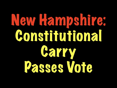 Constitutional Carry Passes Vote in New Hampshire