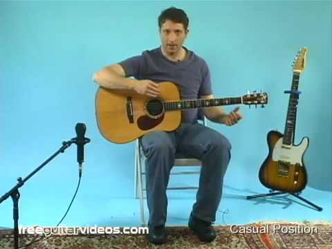 Beginner Guitar Lesson: Sitting Position