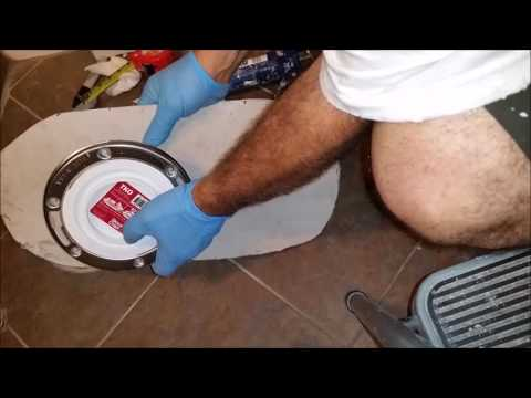 How to raise a toilet flange and a toilet base  above tile floor -  part 2