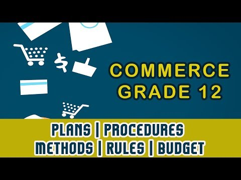Plans | Procedures | Methods | Rules | Budget | Business 81