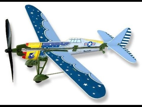 How To Build And Fly A Rubber Band Powered Plane Lyonaeec History P-47 New