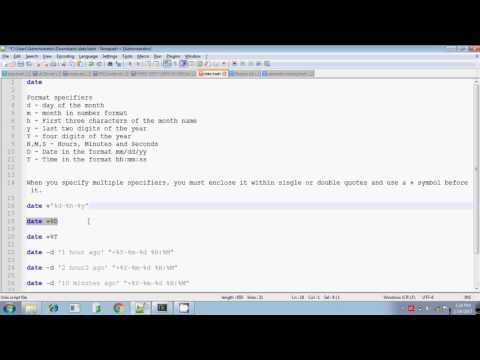 Advanced unix date format specifiers