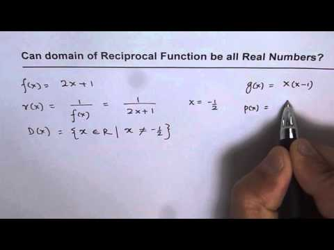 Can Domain of Reciprocal Function be All Real Numbers