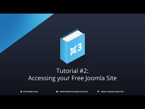 Getting Started with Joomla 3 & CloudBase 3: Accessing your Free Joomla Site - Tutorial #2