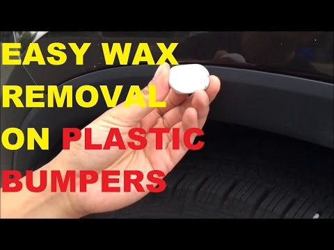 Easiest Way to Remove Wax Marks off your Bumper