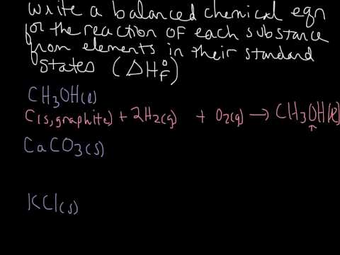 Writing Equations for Standard Enthalpy of Formation- Examples