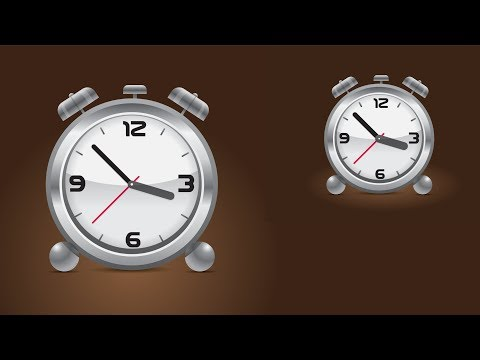 How to Create - Alarm Clock Icon in Adobe illustrator CC 2017 Experiment Course Part# 21