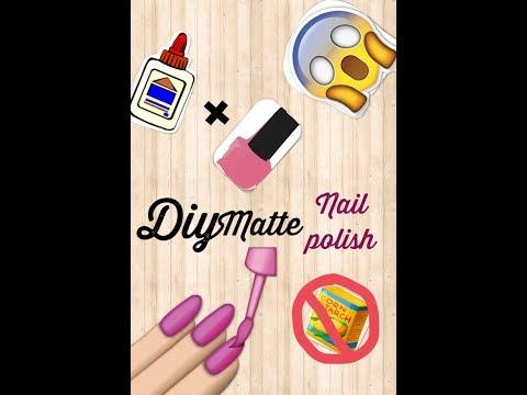 How to make Matte nail polish WITHOUT cornstarch