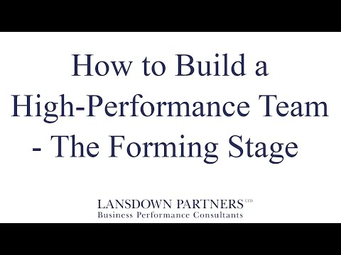 Video 6: How to Build a High-Performance Team - The Forming Stage
