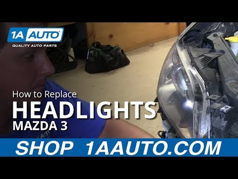 How To Replace Change Headlight and Bulb 04-09 Mazda 3