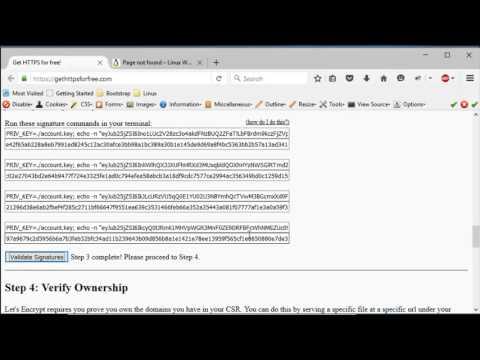 Install Free SSL Certificate on Apache