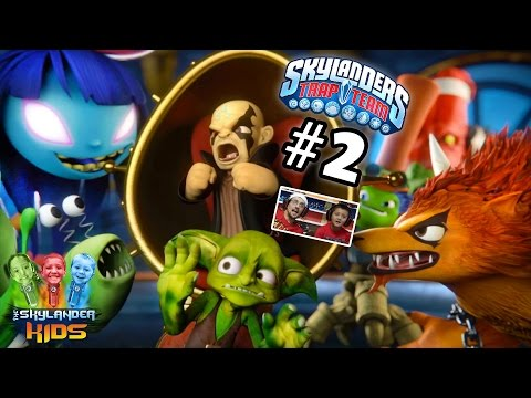 Lets Play Skylanders Trap Team: Chapter 2 - Know It All Island w/ Slobber Trap, Tussel Sprout...