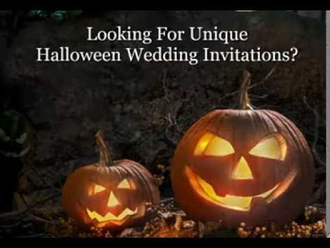 Halloween Wedding Invitations | Wording Ideas for Halloween Themed Invites