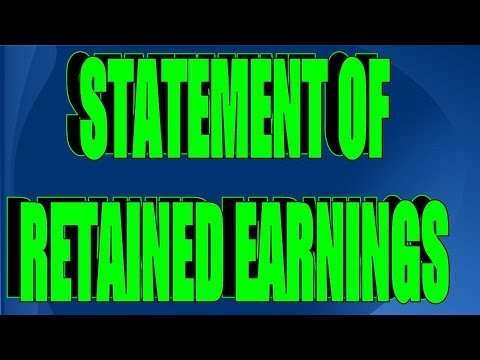 How to Prepare the Statement of Retained Earnings (Part 3 of 5)