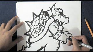 "Cómo dibujar ""Bowser"" el Dragon"