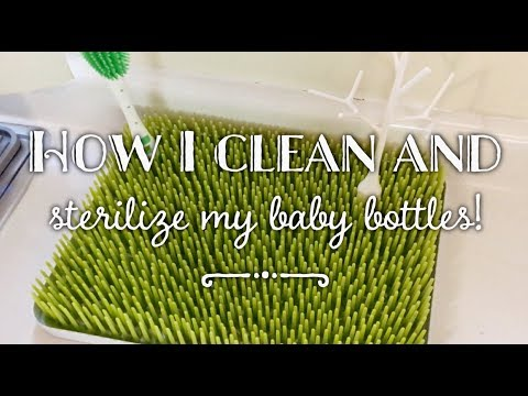 HOW TO CLEAN AND STERILIZE BABY BOTTLES | SUNDAY ROUTINE