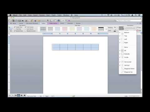 How to Remove Table Lines From a Microsoft Word Document : Microsoft Office Tips