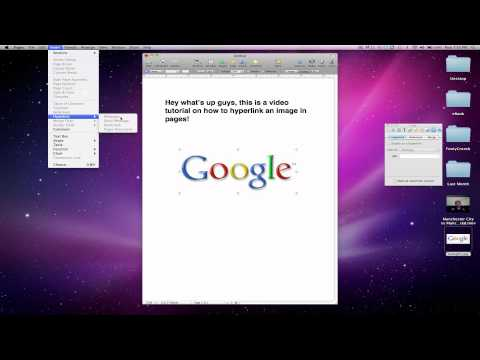 How to Hyperlink an Image in Pages (Mac)