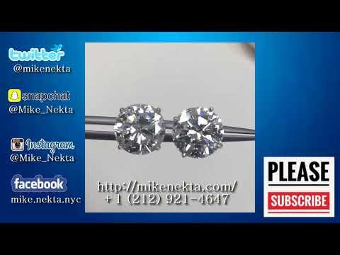 5 Carat Each Diamond Studs Earrings