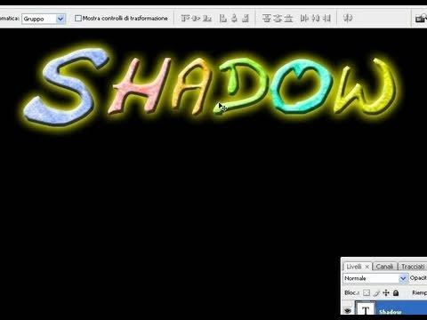 Tutorial Photoshop CS3 text effects - pattern, gradient, outer glow, 3D contour