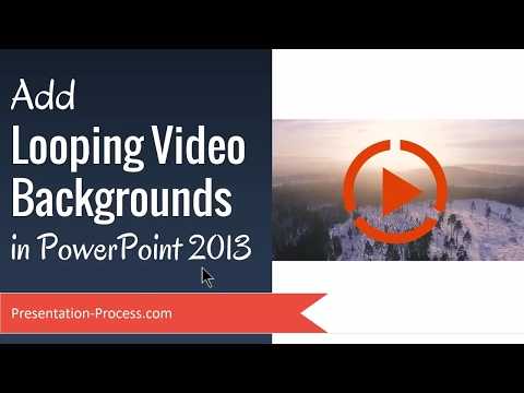 Add Looping Video Backgrounds in PowerPoint 2013