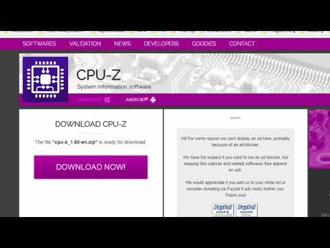 How to check PC / Laptop hardware Details using CPUz