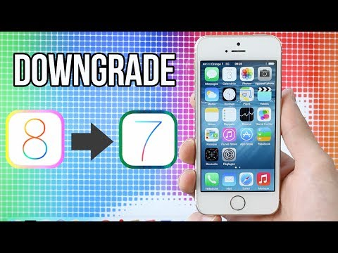 Downgrade de iOS 8 vers iOS 7.1.2 (iPhone, iPad, iPod touch)