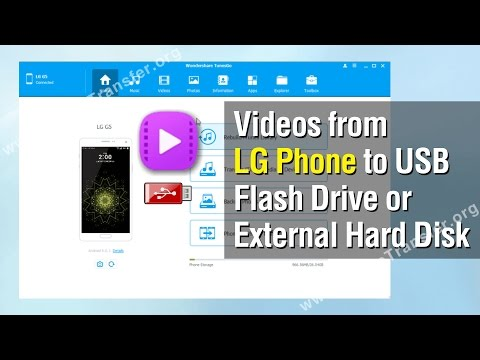 How to Export Videos from LG Phone to USB Flash Drive or External Hard Disk