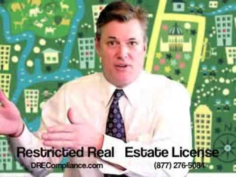 Restricted real estate license in california