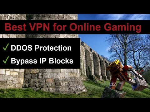 VPN for Online Gaming (Minecraft, ..) -  DDOS Protection ✓ Bypass IP Blocks ✓