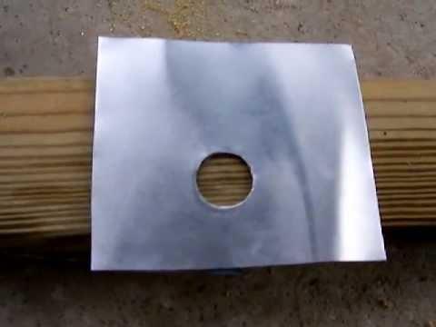 how drill a large hole thru aluminum  flashing